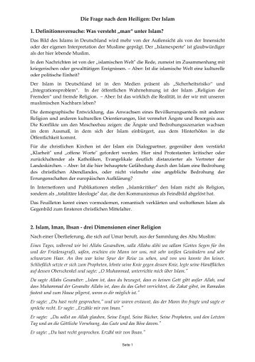 Islam - Die Frage nach dem Heiligen - Wilhelm Sabri Hoffmann