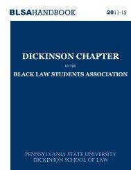 BLSA Membership Handbook - Penn State Law