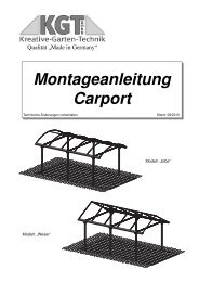 Montageanleitung Carport