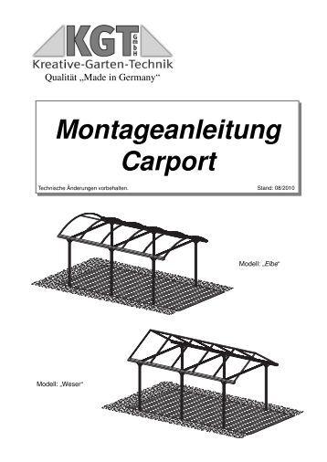 Montageanleitung kruse sicherheitssysteme for Montageanleitung carport