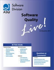 Software Quality - American Society for Quality