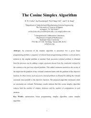The Cosine Simplex Algorithm - CiteSeerX