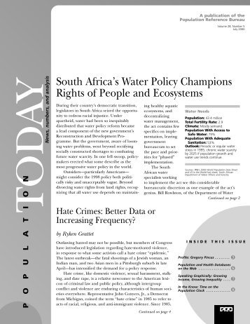 South Africa's Water Policy Champions Rights of People and ...