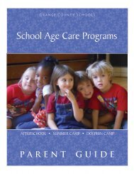 School-Age Care Programs Parent Guide. - Orange County Schools