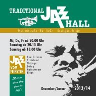 Dezember 2013 / Januar 2014 - Jazz Initiative eV