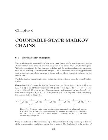 COUNTABLE-STATE MARKOV CHAINS
