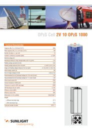OPzS Cell 2V 10 OPzS 1000 - Systems Sunlight S.A.