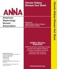 Chronic Kidney Disease [PDF] - American Nephrology Nurses ...