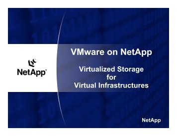 VMware on NetApp - VMware Communities