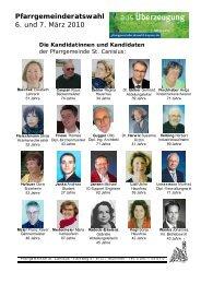 Pfarrgemeinderatswahl 6. und 7. März 2010 - St. Canisius