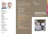 Flyer Wirbelsaeulenchirurgie - Klinikum Freising
