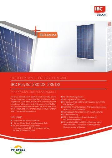 IBC Polysol 230 DS, 235 DS