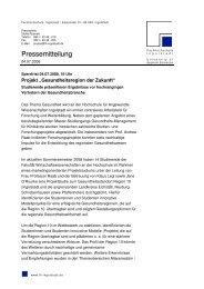 Pressemitteilung - auf den Seiten von Frau Prof. Dr. Andrea Raab!