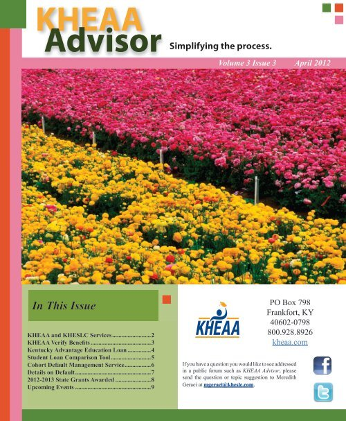Volume 3 Issue 3 April 2012 - KHEAA