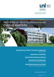 Masters de la Faculté des lettres et sciences humaines