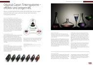 Original Canon Tintensysteme – effektiv und ... - Canon Deutschland