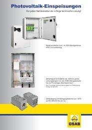 Photovoltaik-Einspeisungen - KARL MAHL GmbH