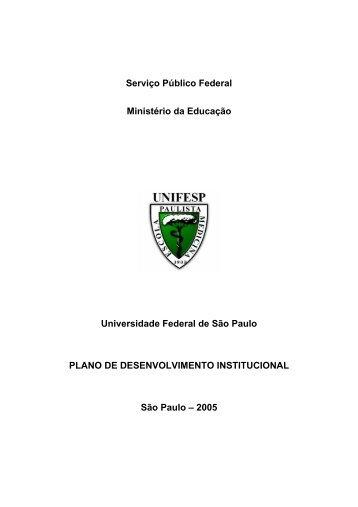 Plano de Desenvolvimento Institucional - Unifesp