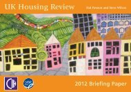 UK Housing Review Briefing Paper - University of York
