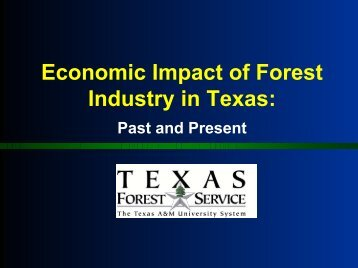 Economic Impact of Forest Industry in Texas: