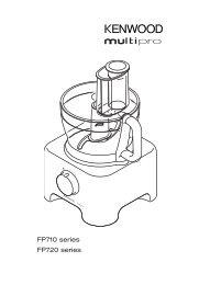 FP710 series FP720 series - Kenwood Limited