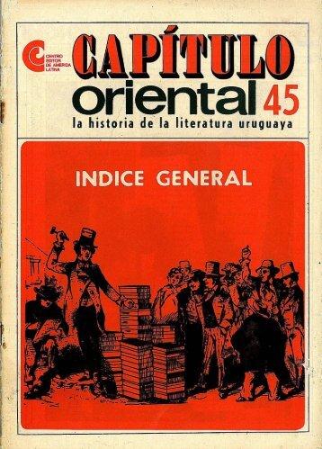 Índice general - Publicaciones Periódicas del Uruguay