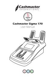 Cashmaster Sigma 170 User Manual