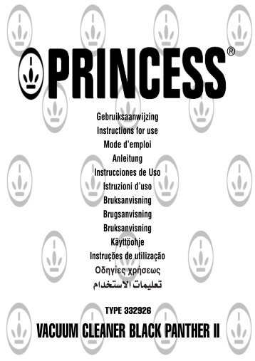 VACUUM CLEANER BLACK PANTHER II - Princess
