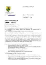 Préavis 2011-19 Budget 2012 - Yvonand