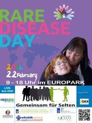 Plakat zum Tag der Seltenen Erkrankungen aus dem Europark 2014