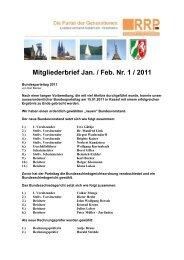 Mitgliederbrief Jan. / Feb. Nr. 1 / 2011 - Rentnerinnen- und Rentner ...
