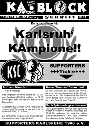 KA BL CK Karlsruh' KAmpione!! - Supporters Karlsruhe 1986 eV