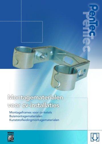 Montagematerialen voor cv-installaties - Pentec