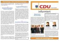 Infoflyer Juli 2008 - CDU Kaufungen