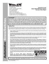 13239: WS610HPD Siren System - Whelen Engineering