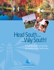 Download our recruitment brochure - South West Health - nshealth.ca