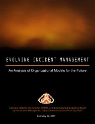 evolving incident management - National Wildfire Coordinating Group