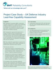 Project Case Study – UK Defence Industry Lead-free Capability ...