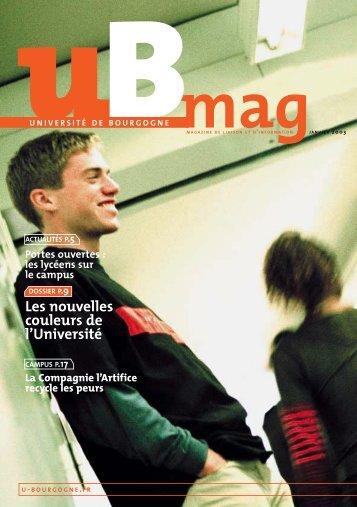 Télécharger uBmag 01 - Université de Bourgogne