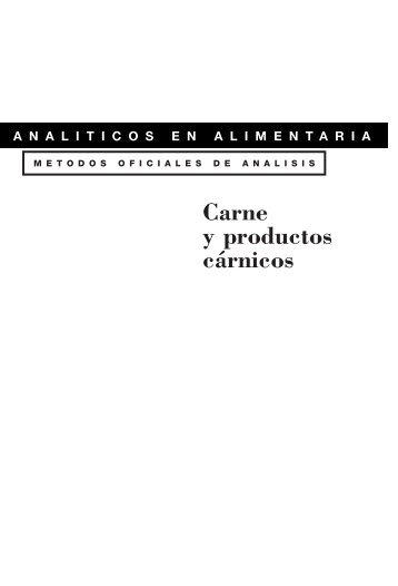 Métodos de análisis de carnes y derivados