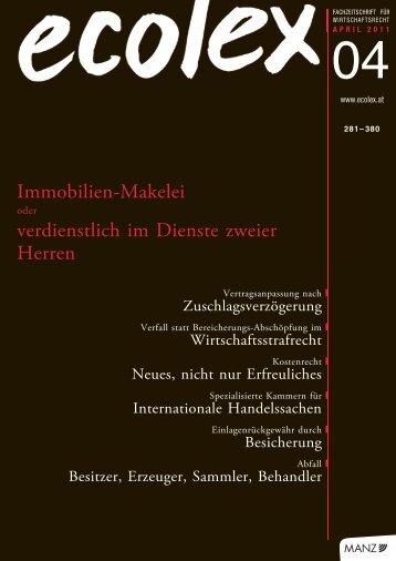 ecolex 04/2011 - Rechtsanwälte Brandl & Talos