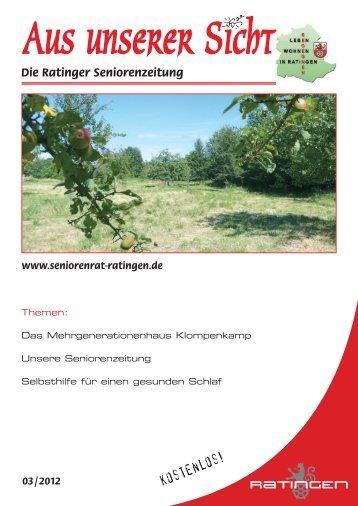 SENIORENBEGEGNUNGSSTÄTTEN - Stadt Ratingen