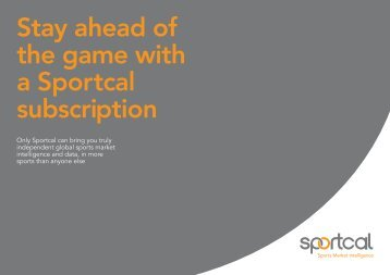 Download our subscription pack - Sportcal