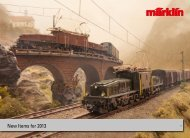 2013 Märklin New Items Brochure English (35MB ... - Marklin Trains