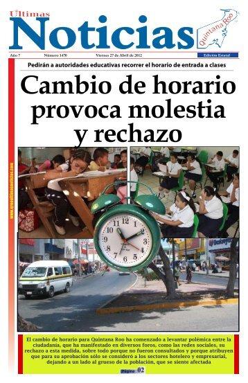 27 - Ultimas Noticias Quintana Roo