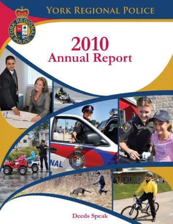 Annual Report-2010-COVER.indd - York Regional Police