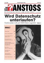 Ausgabe vom Juni 2006 - Zum alten Eisen