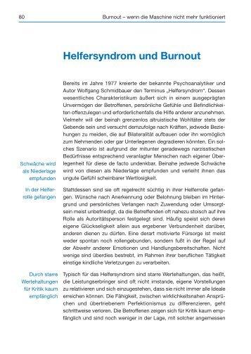 Helfersyndrom und Burnout (Auszug) - Spitta