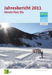 Jahresbericht 2011 Verein Parc Ela