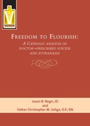FREEDOM TO FLOURISH: - Knights of Columbus, Supreme Council